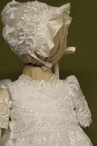 Spitze Hoch bedeckt Illusionshülsen Lange Blumenmädchen kleid - Seite 3