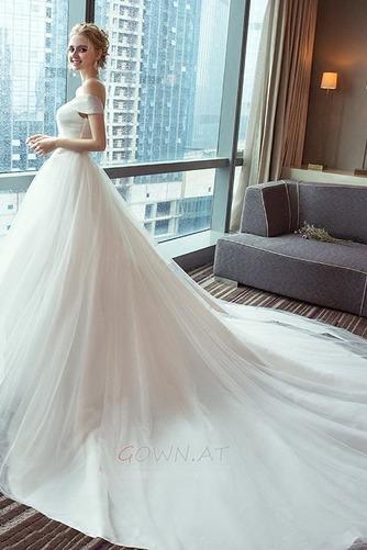 Schnüren Mit geschlossenen Ärmeln Königlicher Zug Einfache Brautkleid - Seite 3