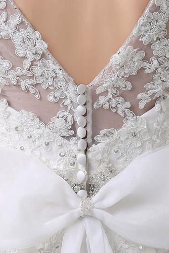 Perlengürtel Breit flach Lange Birne Lehnenlose Hochzeitskleid - Seite 4