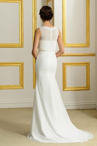 Ärmellos Romantisch Natürliche Taille Appliques Mantel Brautkleid - Seite 2