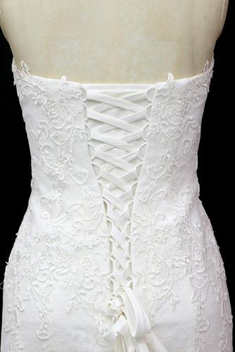 Lange Ärmellos Halle Tüll Schnüren Schatz Klassische Brautkleid - Seite 4