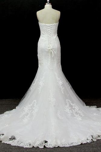 Lange Ärmellos Halle Tüll Schnüren Schatz Klassische Brautkleid - Seite 2