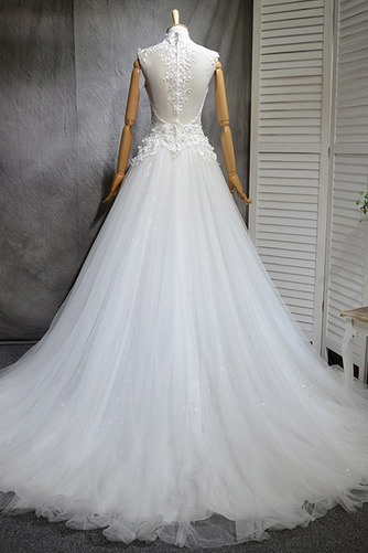 Klassisch Natürliche Taille Spitze Mehrschichtig Draussen Brautkleid - Seite 3