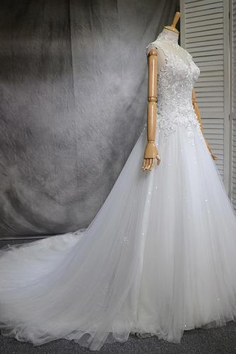 Klassisch Natürliche Taille Spitze Mehrschichtig Draussen Brautkleid - Seite 2