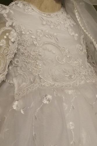 Spitze Prinzessin Natürliche Taille Spitze Blumenmädchen kleid - Seite 3
