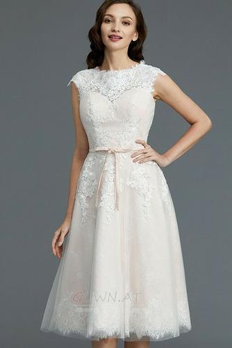 Spitzenüberlagerung Juwel Strand Glamourös Sommer Hochzeitskleid - Seite 5