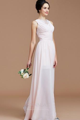 Sommer Natürliche Taille Reißverschluss Ärmellos Brautjungfernkleid - Seite 2