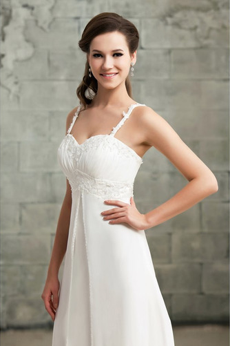 Drapiert Reich Taille Spitze Elegante Reißverschluss Brautkleid - Seite 4
