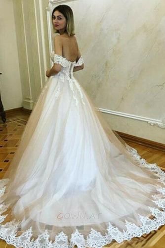 Gericht Zug A Linie Mit geschlossenen Ärmeln Rückenlose Brautkleid - Seite 2