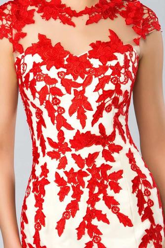Juwel Spitze Reißverschluss Mantel Natürliche Taille Abendkleid - Seite 4