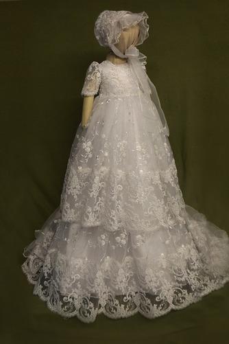 Spitze Prinzessin Natürliche Taille Spitze Blumenmädchen kleid - Seite 1