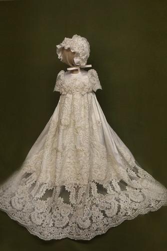 Kappe Juwel Kurze Ärmel Lange Prinzessin Blumenmädchen kleid - Seite 1