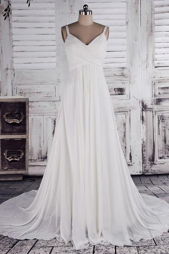 Klassisch Dünn Bischofaschen Reich Reißverschluss Hochzeitskleid - Seite 1