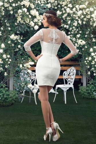Natürliche Taille Fegen zug V-Ausschnitt Elegante Winter Brautkleid - Seite 7