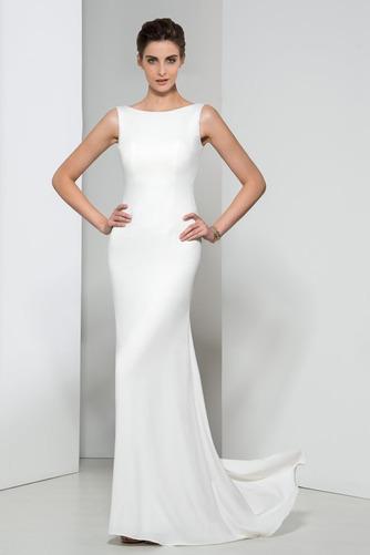 Frenal Ärmellos Natürliche Taille Fegen zug Hochzeit Abendkleid - Seite 1