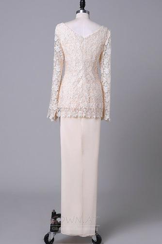 Lange Ärmel Anzug Hochzeit Spitzenüberlagerung Mutter der Braut Kleid - Seite 7