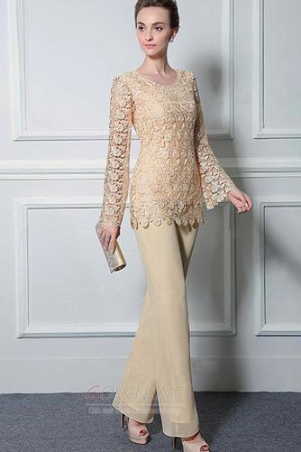 Lange Ärmel Anzug Hochzeit Spitzenüberlagerung Mutter der Braut Kleid - Seite 4