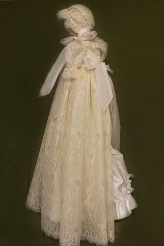 Prinzessin hoch gedeckt Spitze Lange Spitze Blumenmädchen kleid - Seite 2