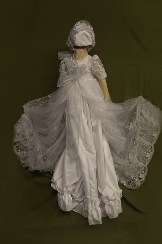 Spitze Prinzessin Natürliche Taille Spitze Blumenmädchen kleid - Seite 2