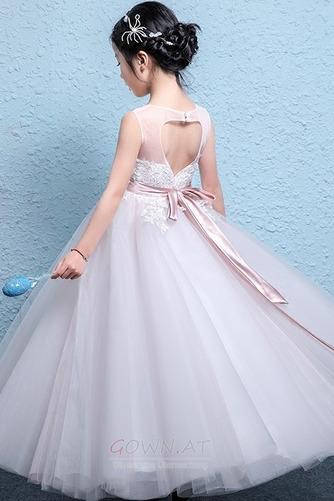 Hochzeit Formalen Natürliche Taille Stickerei Blumenmädchenkleid - Seite 2
