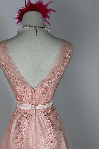 Hochzeit Natürliche Taille Fegen zug Schön Brautjungfer Kleid - Seite 3