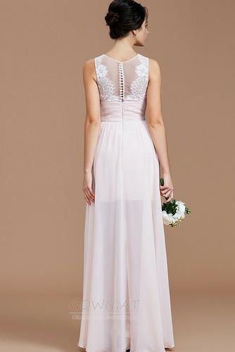 Sommer Natürliche Taille Reißverschluss Ärmellos Brautjungfernkleid - Seite 3