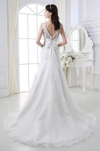 Perlengürtel Breit flach Lange Birne Lehnenlose Hochzeitskleid - Seite 2