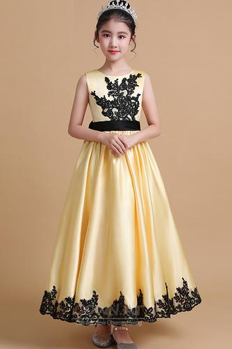 Juwel Trichter Elegante Appliques Sommer Blumenmädchen kleid - Seite 1