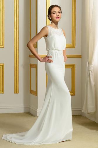 Ärmellos Romantisch Natürliche Taille Appliques Mantel Brautkleid - Seite 3