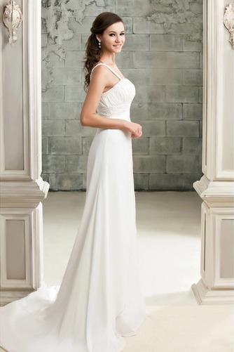 Drapiert Reich Taille Spitze Elegante Reißverschluss Brautkleid - Seite 2