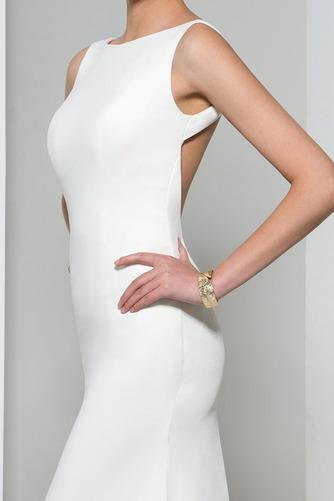 Frenal Ärmellos Natürliche Taille Fegen zug Hochzeit Abendkleid - Seite 4