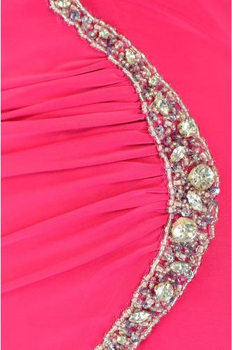 Asymmetrisch Rückenfrei Trichter Chiffon Elegante Abendkleid - Seite 4