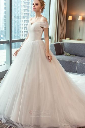 Schnüren Mit geschlossenen Ärmeln Königlicher Zug Einfache Brautkleid - Seite 4