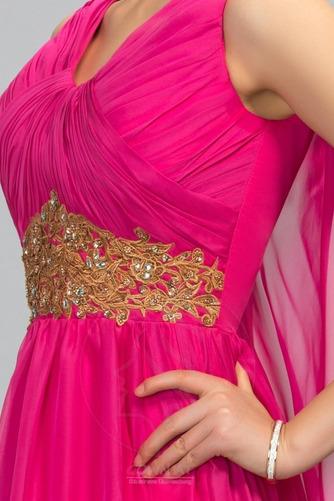 Ärmellos Drapiert Natürliche Taille Formalen Lehnenlose Abendkleid - Seite 5