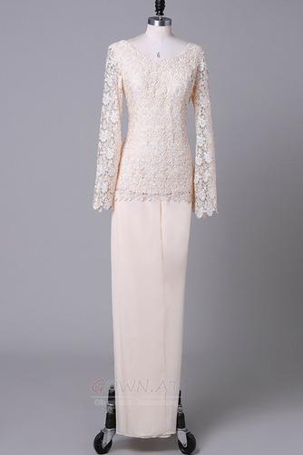 Lange Ärmel Anzug Hochzeit Spitzenüberlagerung Mutter der Braut Kleid - Seite 6