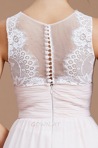 Sommer Natürliche Taille Reißverschluss Ärmellos Brautjungfernkleid - Seite 5