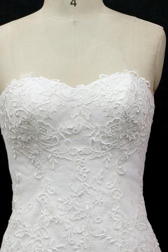 Lange Ärmellos Halle Tüll Schnüren Schatz Klassische Brautkleid - Seite 3