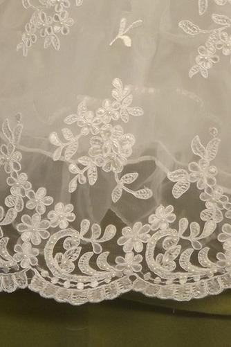 Spitze Hoch bedeckt Illusionshülsen Lange Blumenmädchen kleid - Seite 4