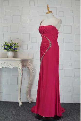 Asymmetrisch Rückenfrei Trichter Chiffon Elegante Abendkleid - Seite 3