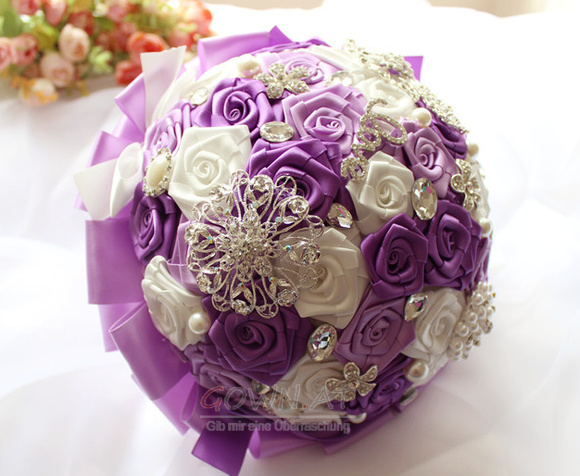 new product c06e4 6c58c Die Braut Band rosa Perle Farbe Band Band mit Blumen - gown.at